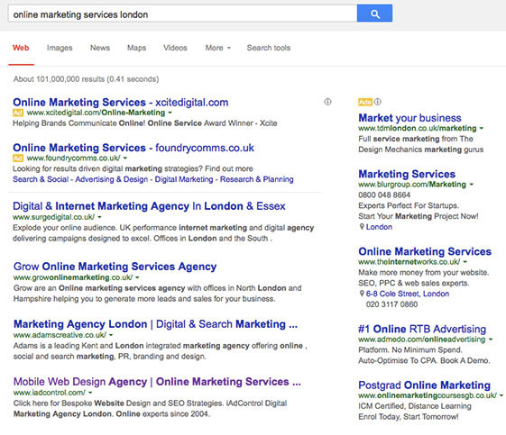 iAdControl Online Marketing Services London